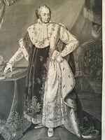 Original Stahlstich MAXIMILIAN JOSEPH I. KÖNIG VON BAYERN, 1820, J. L. Rugendas