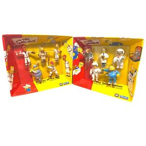Vintage The Simpsons Playmates PVC Toys - Homer at the Bat - Deep Space - Sealed