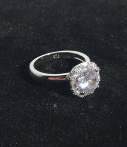 Queen Brilliance Cut Engagement Ring 1ct Halo Moissanite Size 9