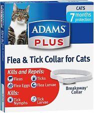 ADAMS PLUS Flea & Tick Breakaway Collar Adjustable 7 MONTH Protection for CATS