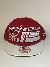 Detroit Red Wings New Era 9Fifty Cap Stitched Snapback Flat Brim Red White