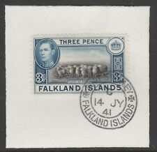 Falkland Is 6243 - 1938 KG6 3d with MADAME JOSEPH FORGED POSTMARK
