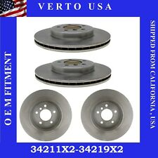 Front & Rear Brake Rotors For BMW 330 Series 2001 2002 2003 2004 2005 2006