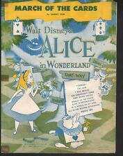 March of the Cards 1951 Alice in Wonderland Walt Disney Sheet Music