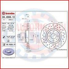 BREMBO 09.4939.1X 2X COPPIA DISCHI FRENO XTRA per FIAT 500 C (312)