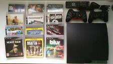 Playstation 3 Slim 250gb + 2 mandos + 12 juegos + mando Bluray
