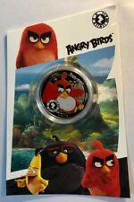 SIERRA LEONE - One Dollar - 2018 - Colored ANGRY BIRDS - Display Card