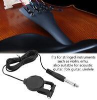 6.35mm Piezo Clip On Microphone Pickup Acoustic Guitar Violin Mandolin Ukulele
