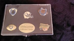 Indianapolis Colts Limited Edition Collectors Pin Set - 5 Pins and Display Case
