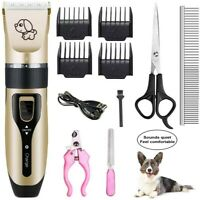 Pet Grooming Kit Pet Clipper Set Dog Cat Hair Trimmer Cordless Rechargeable
