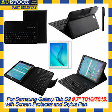 Removable Bluetooth Keyboard Case Cover For Samsung Galaxy Tab S2 9.7 T815 T810