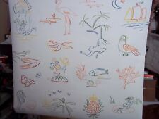 "SUNNY CARIBBEAN SOUTH FLORIDA ANIMAL OCEAN FISH WALLPAPER PARTIAL ROLLS 28""x23'"