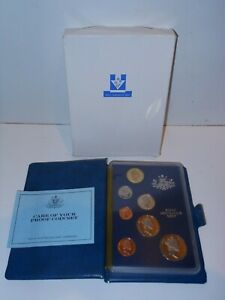 1986 RAM Royal Australia Mint Proof 7 Coin Set in folder