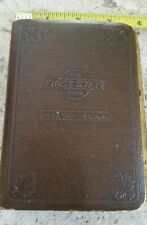 Vintage First State Bank Nora Springs Iowa Metal Book Bank Brown Leather