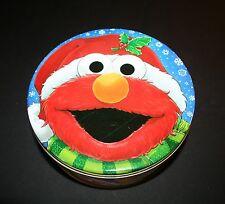 """7"""" SESAME STREET Cookie Tin """"Friends for Life"""" ELMO Grover Big Bird NM"""