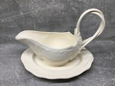 More details for authentic leedsware classical creamware, small gravy boat sauce jug