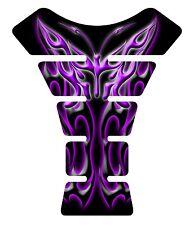 Flaming Butterfly Purple Black Motorcycle Gel Gas Tank Pad Tankpad Protector
