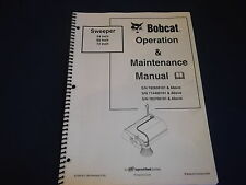 BOBCAT 54 60 72 INCH SWEEPER OPERATION & MAINTENANCE BOOK MANUAL