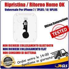 TASTO HOME FLAT FLEX PULSANTE RIPRISTINO PER iPhone 7 7Plus 8 8 Plus Colore NERO