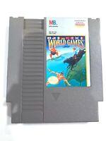 WORLD GAMES (Milton Bradley) ORIGINAL NINTENDO NES GAME CARTRIDGE Tested + Works
