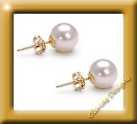 Echte Weiß Akoya Perlen ca 5 mm Ohrstecker Ohrringe Gold 750 Neu 18 kt