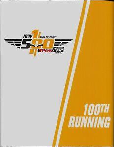 Indianapolis 500 Program - 100th 500 May 29, 2016