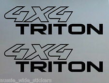 4x4 Triton Mn Mk Ute Tray Stickers 200mm PAIR for mitsubishi