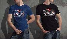 Retro Vintage Mecha Anime VOLTES V Five Robot Black Navy T-shirt