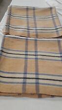 Two panels of vintage Welsh wool blankets.