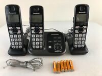 Panasonic KX-TG4731 Cordless Phone DECT 6.0 Answering Machine 3 Handset - Tested