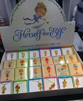 HERSELF THE ELF DISPLAY BOX OF 24  PINS & NECKLACE AM.GREETINGS $1 EA BELOW COST