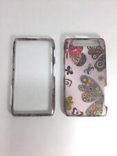 Motorola Droid Razr MAXX XT913 Rubber Pink Hard Case Butterflies Snap-on Android