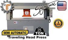 NEW!! CJRTec 25 Ton Traveling Head Clicker Press Semi Automatic Hydraulic