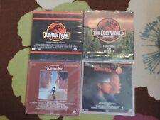 Lot of 4 Laserdiscs!JURASSIC PARK;JURASSIC WORLD; KARATE KID; KARATE KID PART II