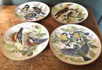 ALT TIRSCHENREUTH 1838 Germany WWF Birds Plates (4) by U. Band 1985/1986