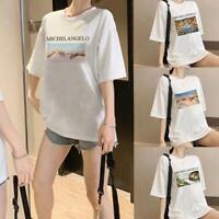 Women Michelangelo T Shirt Harajuku Kawaii t shirt Summer Femme Casual Tops Tee