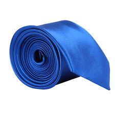 US Men's Classic Skinny Slim Tie Solid Color Plain Silk Jacquard Woven Necktie