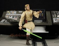 "S284 Hasbro Star Wars 3.75"" Figure 1:18 Obi Wan Kenobi Jedi Master ATOC 2001"