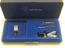 AUDIO TECHNICA PM9000 P-MOUNT CARTRIDGE & GENUINE AT STYLUS IN NICE DISPLAY CASE