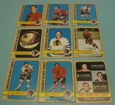 9 DIFFERENT 1972 - 73 CHICAGO BLACKHAWKS TOPPS HOCKEY CARDS
