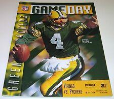 1997 GREEN BAY PACKERS v MINNESOTA VIKINGS NFL PROGRAM Brett Favre  EX Free Ship