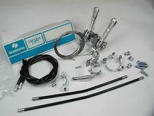 Schalter Rennrad Shimano Altus Centeron Set für Vorbau mit Zubehör Vintage NOS