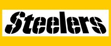 "NFL PITTSBURGH STEELERS FONT STENCIL ** FREE USA S&H ** 8"" x 3.5"" (inches)"