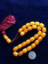 Vintage Worry Beads - Komboloi Amber Colour Bakelite !!