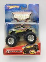 Hot Wheels Reptoid Monster Jam Truck 2005 #19 RARE VHTF FREE SHIPPING