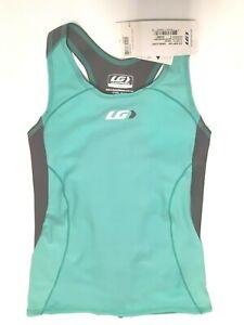 Garneau - Cycling W COMP Tank Camisole - Gray / Green - Womens Size S - Lycra