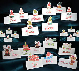 Christmas place cards packs of 4, 6 or 8 personalised or blank 9 different ones
