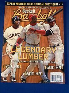 """Beckett Baseball Monthly """"Legendary Lumber"""" Griffey Bonds ARod VHTF September 07"""