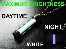 WHITE Glow In The Dark Necklace / Pendant, Pure Strontium Aluminate! GITD Marker