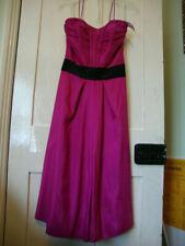 Camille Magnífico Diseñador Color de rosa caliente con Tiras Vestido Baile de graduación Fiesta Boda Talla S Bnwt
